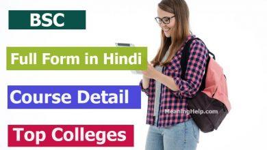Photo of Bsc Full Form in Hindi- बीएमएस