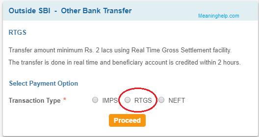 Online RTGS in SBI