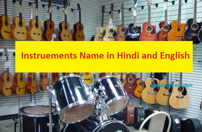 list of musical instruments name in Hindi and English with Pictures