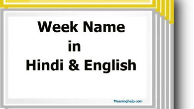 Photo of Seven Days Week Name in Hindi and English – सप्ताह के नाम